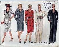Vogue Pattern Misses Maxi Coat Dress Size 10