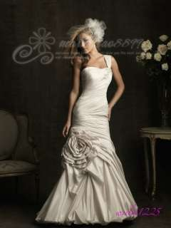 Mermaid One Shoulder Sexy Evening Dress Wedding Dress Bride Prom Ball