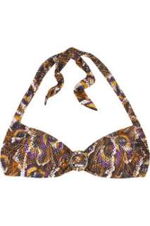 JETS by Jessika Allen Animal print moulded bikini top   88% Off Now at