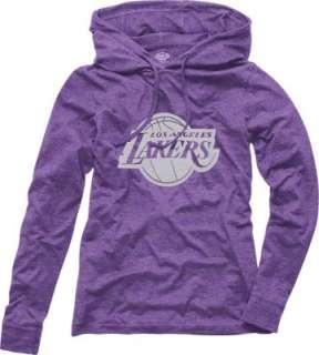 Los Angeles Lakers Womens Retreat Long Sleeve Purple Hooded Shirt