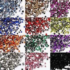 US$ 2.39   1200 Nail Art Rhinestone Glitter Tip Mix Gem Wheel, Free