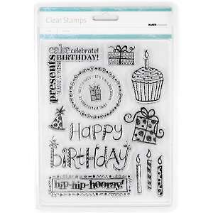 Kaisercraft Clear Stamps in Birthday Designs
