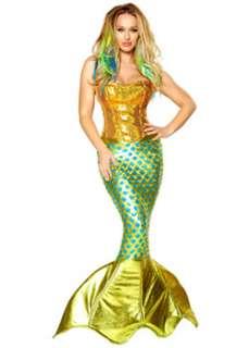 Adult Sexy Siren of the Sea Costume  Cheap Mermaids Halloween Costume