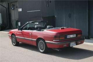 Chrysler Le Baron Cab  89 på Tradera. Chrysler  Amerikanska  Bilar