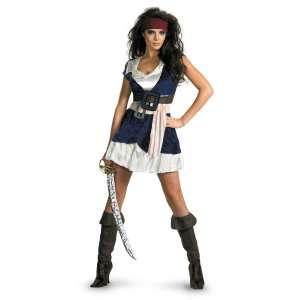 Pirates Of The Caribbean   Jack Sparrow Sassy Adult Costume, 800262