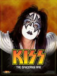 Adult Spaceman Wig   Official KISS Costume Accessories
