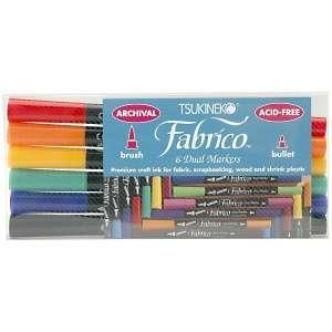 Fabrico Dual Tip Multi Purpose Marker Set 6/Pkg   Standard Colors at