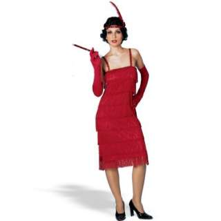 Costumes Miss Millies Fringe Flapper Dress Red Adult Costume