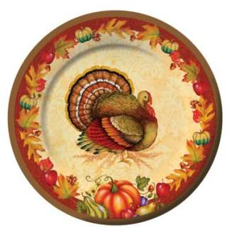 Thanksgiving Blessing Dinner Plates (8 count)   Costumes, 35733