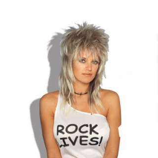 Halloween Costumes Rocker Wig (Blonde) Unisex Adult
