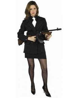 Womans Sexy Mafia Plus Adult Costume  Wholesale Convicts/Gangsters