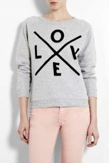 Zoe Karssen  Love Grey Heather Loose Fit Sweater by Zoe Karssen