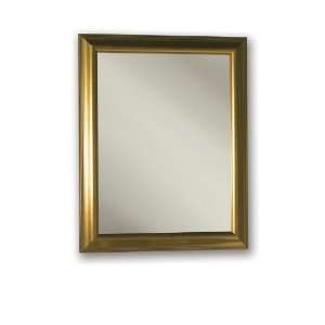 Monaco Recessed 24W x 30H Gold Tone Mirrored Door Medicine Cabinet