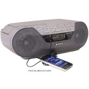 Portable Digital Tuner AM/FM Radio Tape Cassette Recorder & CD Player