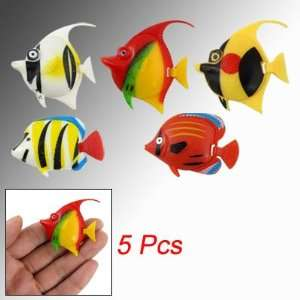 Pcs Multicolor Tropical Fish Decor for Aquarium Tank: Pet Supplies