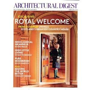 2012 February   Exclusive Royal Welcome Architectural Digest Books