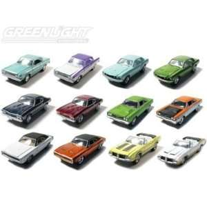 Set of 12 Muscle Car Garage Stock & Custom 1/64 Series 7