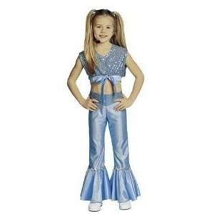 : Pop Diva Blue Child Halloween Costume Size 4 6 Small: Toys & Games