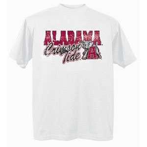 Alabama Crimson Tide UA NCAA White Short Sleeve T Shirt