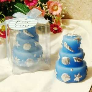 Blue Cake Candle, Pretty Fashion Candle, Birthday Gift