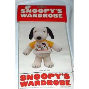 Snoopys Wardrobe for 11 Plush   Snoopy Happy Birthday Shirt Outfit