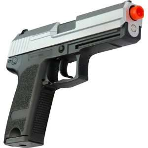 Metal Full Auto Blowback Airsoft Pistol   Two Tone Sports & Outdoors
