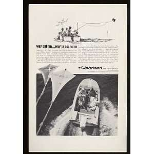 1967 Johnson Sea Horse 40 Boat Motor Print Ad (11133)