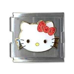 Kitty Mega Red Bow Cat Animal Theme Licensed Charm Bracelet Jewelry