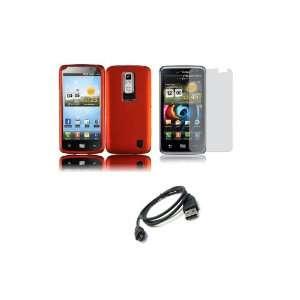 Spectrum (Verizon) Premium Combo Pack   Orange Hard Shield Case Cover
