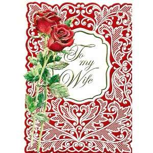 Valentines Day Greeting Card To My Wife Valentine Health