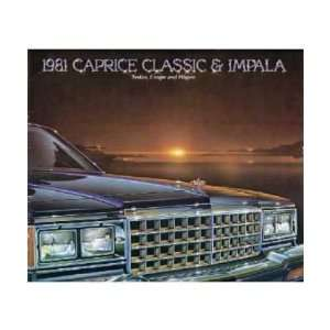 1981 CHEVROLET CAPRICE IMPALA Sales Brochure Book