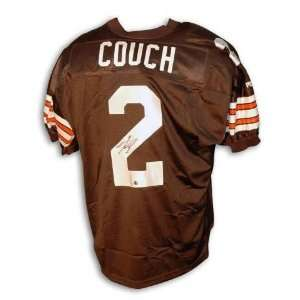 Tim Couch Cleveland Browns Autographed Puma Jersey with Inaugural 1999
