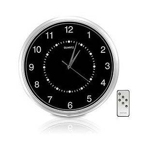 built in functional Wall Clock Hidden Camera Kit 2 channel receiver