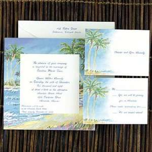 Palm Tree Wedding Invitations NJ9591 68 (QTY 100)