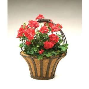 Wrought Iron Solera Basket Planters with Coco Liner Patio