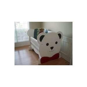 Laurens Teddy Bear Crib Handcrafted in America by Cute Cribs Baby