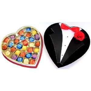 Heart Gift Box Filled With Dove Premium Specialty Chocolate Candies