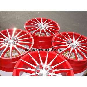 ADR INTERSPEED RED WITH POLISH LIP WHEELS, A SET OF 4