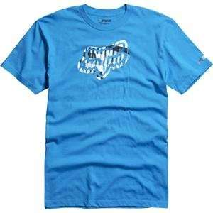 Fox Racing Fresh Motion T Shirt   Large/Electric Blue Automotive