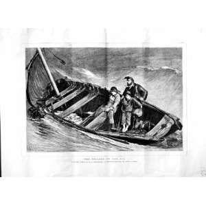 1870 FISHING BOAT MEN SEA ORCHARDSON ROYAL ACADEMY ART
