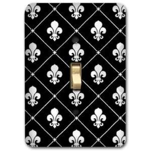 Fleur De Lis French Pattern Metal Light Switch Plate Cover Home Decor