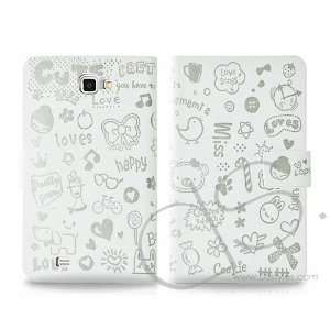 Calore Series Samsung Galaxy Note Flip Leather Case N7000