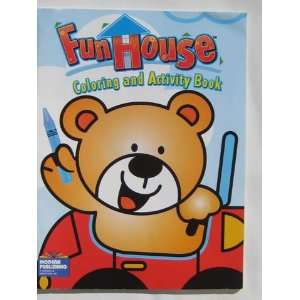Fun House Coloring & Activity Book ~ Bear in Car Modern