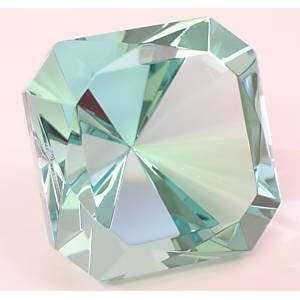Elizabeth   Turquoise Light Topaz Blue Square Emerald Cut Gem