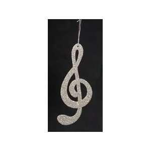 Seasons of Elegance Gold Glitter Treble Clef Music Note Christmas