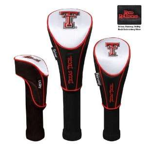 Tech Red Raiders 3pc Golf Club/Wood Head Cover Set Sports & Outdoors