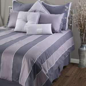 Rizzy Home Hollywood Bedding Set in Green Gray   Queen