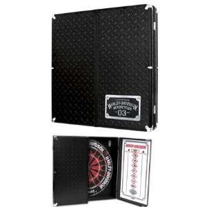 Harley Davidson Diamond Plate Dart Cabinet Sports