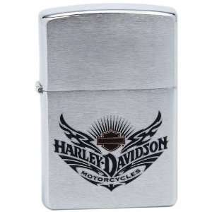 Harley Davidson Motor Chrome Zippo Lighter Patio, Lawn
