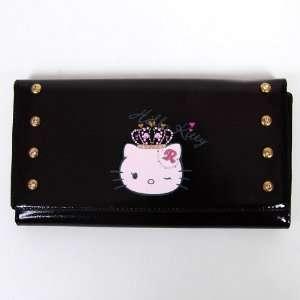 Hello Kitty Girls Long Wallet Card Holder Black Office